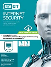 ESET Internet Security - 3 Devices, 3 Years (Email Delivery in 2 Hours- No CD)