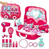 Toys N Smile Beauty Makeup Pretend Play Toy Set for Girl with Makeup Accessories and Carry Suitcase