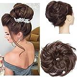 Tousled Updo Messy Bun Haarteil Haargummis Haarverlängerung Pferdeschwanz mit elastischen Haarteil Hair Extensions für Frauen