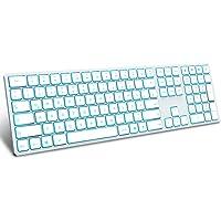 Jelly Comb Beleuchtete Tastatur mit 3 Bluetooth Kanal, Kabellose Wireless Fullsize QWERTZ Funktastatur Wiederaufladbar…