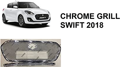 VAIBN- Superior Quality Bentley Type Front Chrome Grill Set of 2 Maruti Suzuki Swift 2018