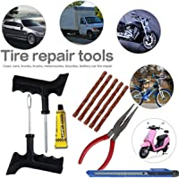 amiciAuto Tubeless Tyre Puncture Repair Tools Kit
