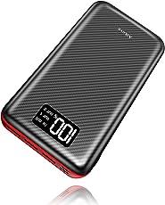 Powerbank Aikove 24000mAh Externer Akku mit LCD Digital Display und Dual Input & 3 Ausgänge hohe Kapazität Tragbares Ladegerät Power Bank Handy für iPhone, iPad, Samsung Galaxy und andere Smartphones (schwarz)