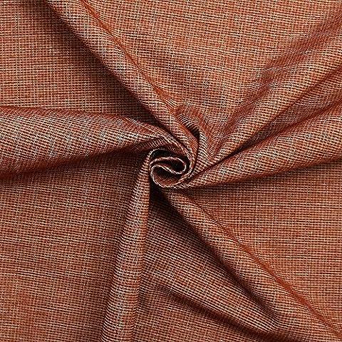 Burnt Orange Plain Weave Chenille Sofa Cushion Curtain Upholstery