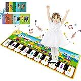 Magicfun Tapis de Piano Enfants, Tapis Musical Bébé Jouets avec 8 Sons d'Animaux & 3 Sons d'Instruments, Bébé Tapis de Danse