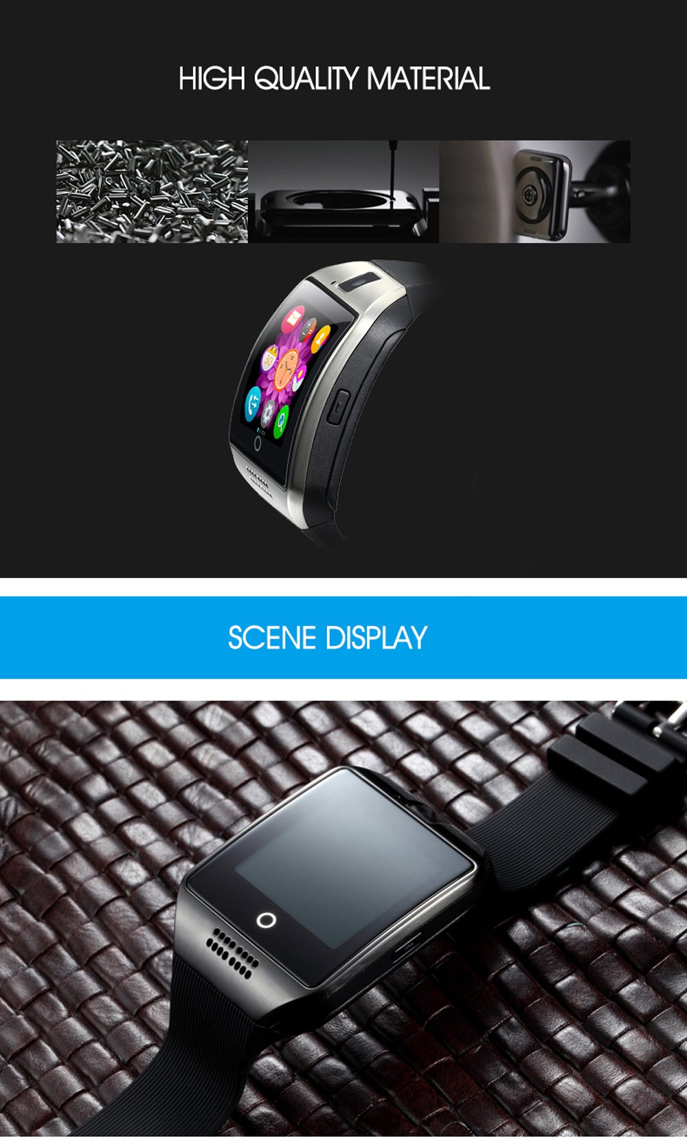 Smart Watch con GPS, Bluetooth, cámara para Android, de la marca KXCD Tech 5