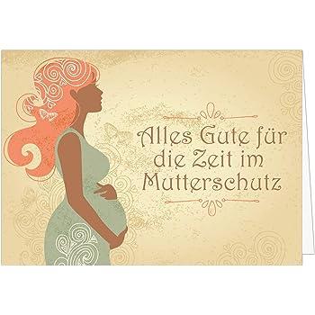Abschiedskarte zum Mutterschutz - Glückwunsch zum Baby