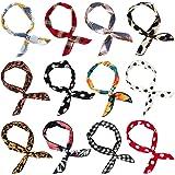 Wodasi 12Pcs Twist Bow Wired Headbands, Fil flexible Headbands Accessoires pour Cheveux Serre-tête à Nœud Vintage Femme Bande