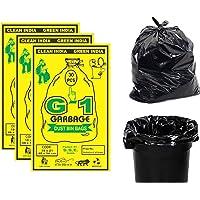 G 1 Garbage Bags / Dustbin Bags / Trash Bags - Medium - 19x21 inches - Pack of 3, Black - (30 Bags Per Pack)