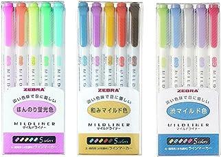 Zebra Mildliner WKT7–5C (5-Farben-Set) / WKT7–5C-RC (5-Farben-Set) / WKT7–5C-NC (5-Farben-Set)