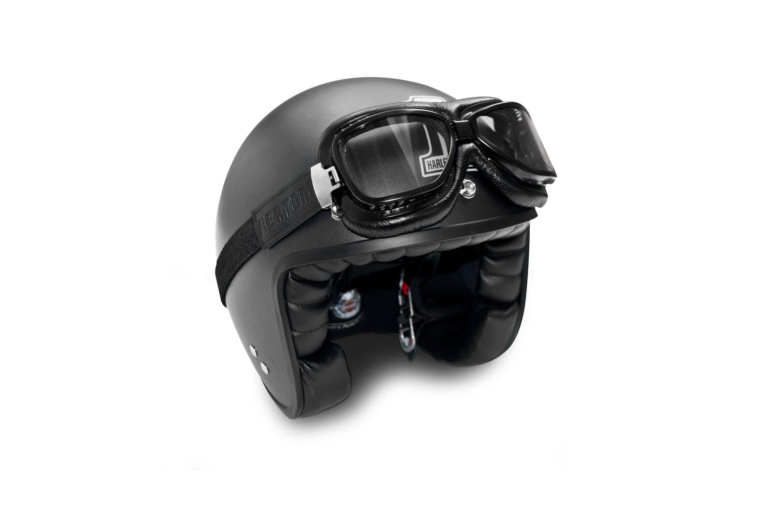 Masque moto vintage Bertoni Noir 6