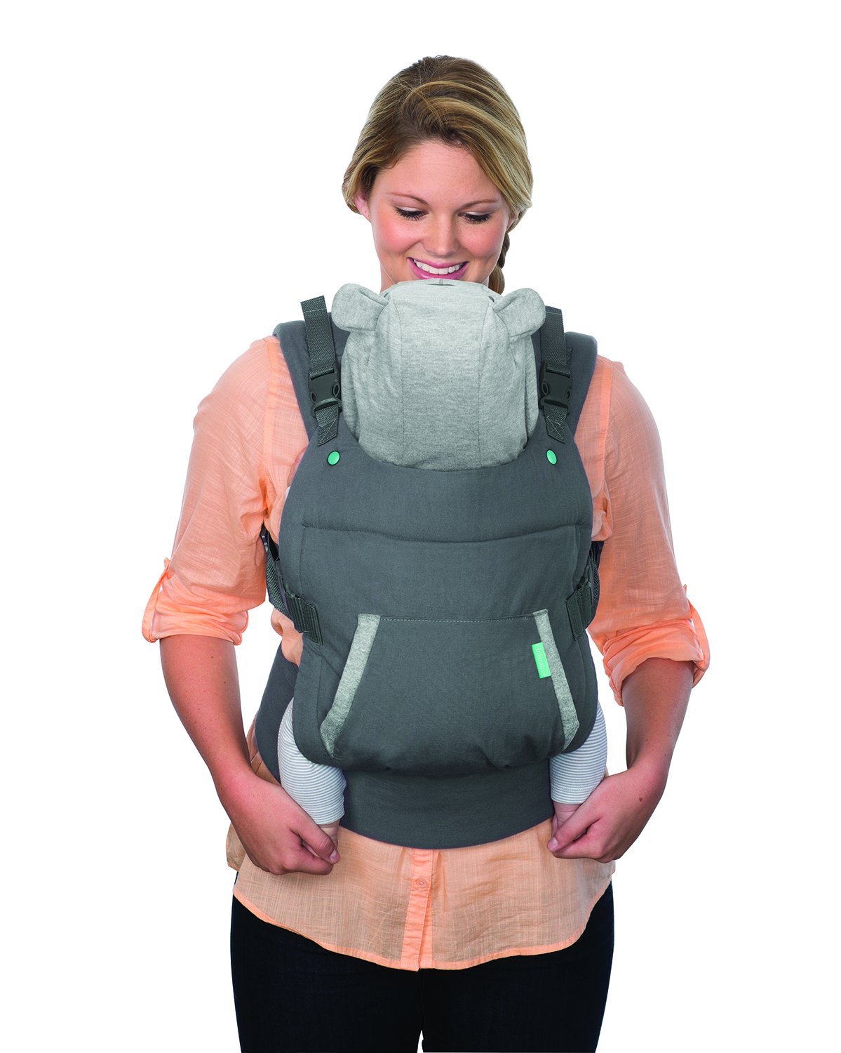 Infantino Cuddle Up Ergonomic Hoodie Carrier, Grey Infantino Fully safety tested Carries children from 12-40lbs (5.4 - 18.1 kgs) 5