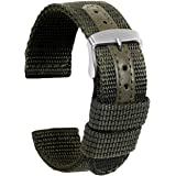Ullchro Nylon Cinturini Orologi Alta qualità Tela di canapa Orologi Bracciale Militari Esercito - 18mm, 20mm, 22mm, 24mm Cint