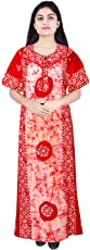 Mudrika Women Cotton Nighty Gown Sleepwear Nightwear Maxi Soft and Stylish Night Suit Cotton