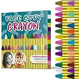 JamBer 28 Colori Face Paint, Face pastelli matite da Trucco sicure e atossiche per Bambini, Perfetto per Carnevale…