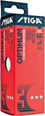 Stiga Optimum 40+ Table Tennis Ball, Pack of 3