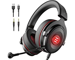 EKSA E900 Pro Gaming Headset Xbox One Headset with 7.1 Surround Sound, PS4 Headset Noise Cancelling Over Ear Headphones with