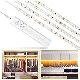 Lampe de Placard,LUXJET® 30LED 1M Veilleuse Bande Lumineuse Ruban,Lampe de capteur de mouvement pour placard/armoire/placard