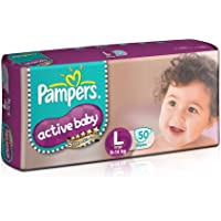 Pampers Active Baby Diaper, Large, 50 Count