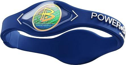 Power Balance Silicone Armband, Blue w/White, M, IWSA09BLPBWTMP