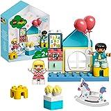 LEGO 10925 DUPLO Town Speelkamer, Poppenhuis met Grote Bouwstenen, Educatief Speelgoed voor Peuters van 2 Jaar en Ouder