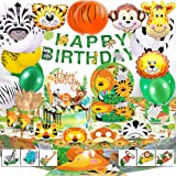 BEA's Party Giungla Compleanno Giungla Decorazioni Palloncini Animali Giungla Party Decorazioni Animali Foresta Compleanno Ki