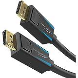 KabelDirekt – Cable DisplayPort 8K (DP a DP) – 2m – (32,4 Gbit/s, resolución UHD con 8 K / 60Hz o 4 K / 120Hz, Compatible con