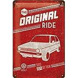 Nostalgic-Art 22212 Plaque Vintage Volkswagen Golf – Original Ride – Idée de Cadeau pour Les Fans de VW, en métal, Déco Desig