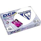 Clairefontaine Druckerpapier DCP in satiniertem Weiß / 5 x 500 Blatt in DIN A4 mit 100 Gramm / Premium Kopierpapier für farbintensiven Bilderdruck