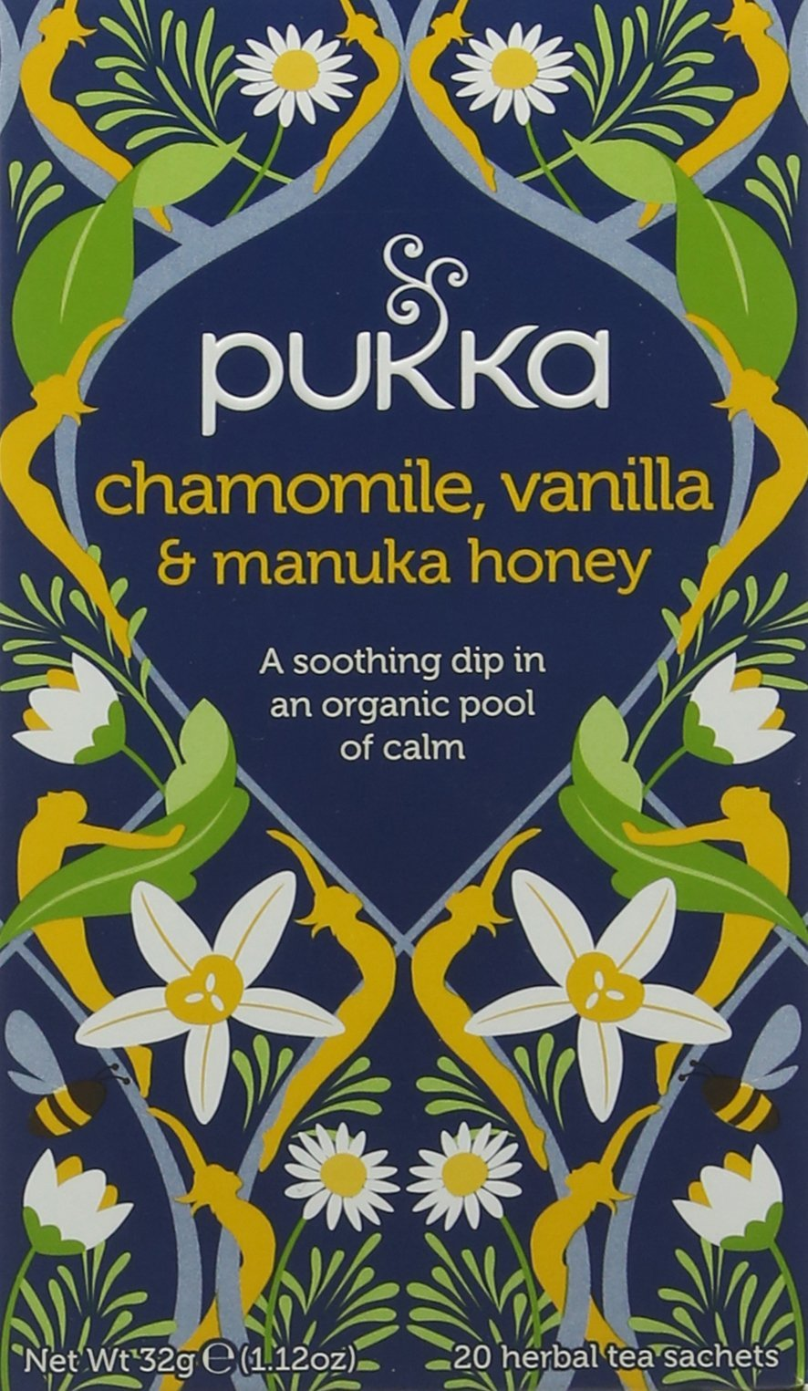 Pukka relax range tea bundle (soil association) (infusions) (4 packs of 20 bags) (80 bags) (a fruity, sweet tea with aromas of camomile, fennel, liquorice, manuka honey, vanilla) (brews in up to 15 min)