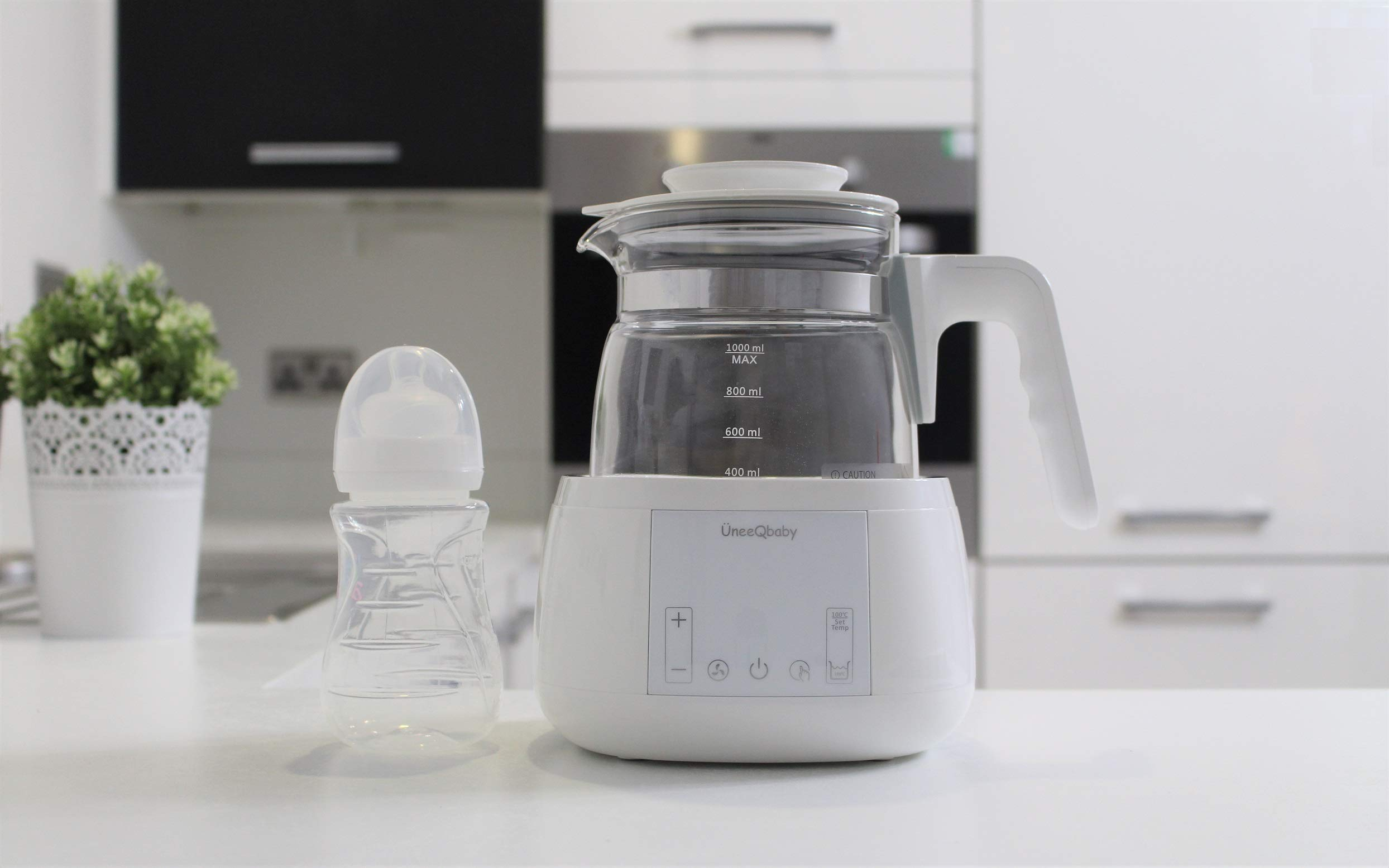 for Bottle Feeding ÜneeQbaby Baby Formula Kettle with Built in Thermostat