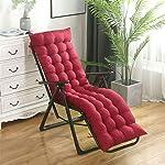 KAIQINDZ solid soft Garden Sun Lounger Recliner chair Cushion Thicken Foldable Rocking Chair Cushion long Chair Couch