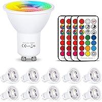 HYDONG Ampoule GU10 LED Couleur Changement 6W Dimmable LED Spot Bulb RVB + Blanc Chaud 2700K,12 Couleurs avec…