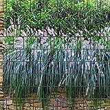 Graswand - Zaun Sichtschutzstreifen für Doppelstabmatten inkl. Klemmschienen