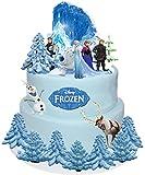 Disney Frozen Elsa Anna Olaf - Oblaten-Tortendekoration, Essbar 31-teilig