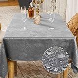 Balcony&Falcon Nappe de Table Décorationde Table de la Fête Nappe Effet Lin Rectangulaire Nappe Imperméable et Anti Tache (G
