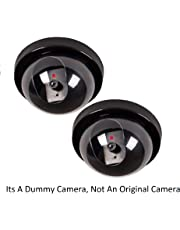 HUMBLE Realistic Looking Dummy Security CCTV Camera with Flashing Red LED Light for Office and Home : Black ( Pack of 2 )
