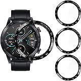 CAVN Ochraniacz ekranu Kompatybilny z Honor Magic Watch 2 46 mm, [3-pak] Zakrzywiony 3D [Nietłukący] [Zapobiegający zarysowan