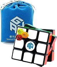 Nitrocubes GAN Gans 356 Air (Master) Black with GAN Bag and Cube Stand New Blue Core 3x3x3