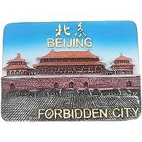 Aimant de réfrigérateur en 3D représentant la ville interdite de Pékin en Chine, souvenir de voyage, décoration de…