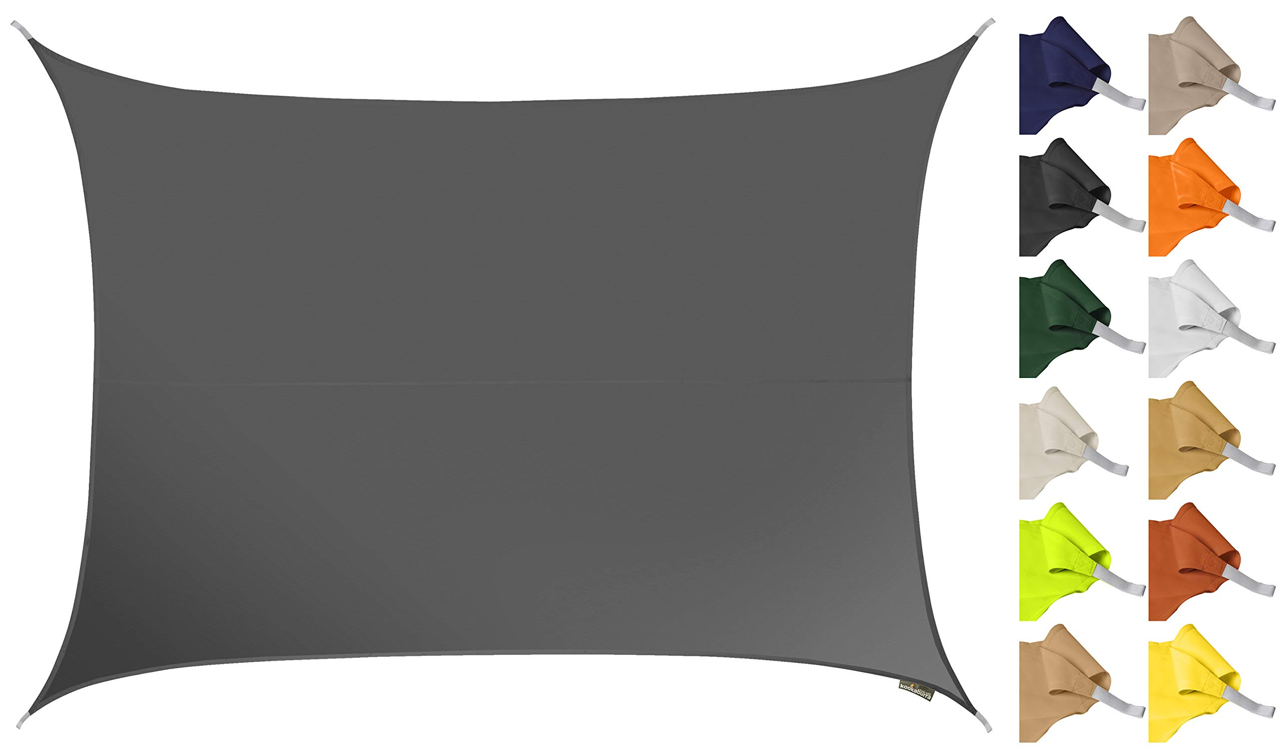 begrenzter Preis viele Stile Laufschuhe Kookaburra Sonnensegel Wasserabweisend 6,0m x 5,0m Rechteck 96.5% UV Schutz  für Garten und Balkon | preisluchs.com