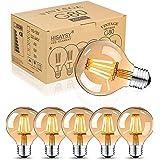 Lot de 6 ampoules Edison vintage E27 LED blanc chaud, ampoules vintage à incandescence E27 8 W, ampoule rétro idéale pour écl