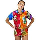 Funky Blusa Camisa Hawaiana Señora | XS -6XL | Manga Corta | Bolsillo Delantero | impresión De Hawaii| Diseños de Botella de