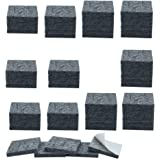 Now & Zen Self Adhesive Square Furniture Felt Pads for Hard Surfaces - Non-Slip Heavy Duty Furniture Leg Guards (20 MM - Pack