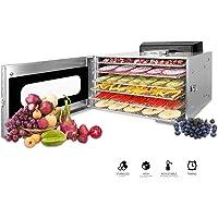 Novhome Déshydrateur Alimentaire inox 6 Plateaux Desydratateur fruits et legumes viande Professionnel avec Minuteur 24H…