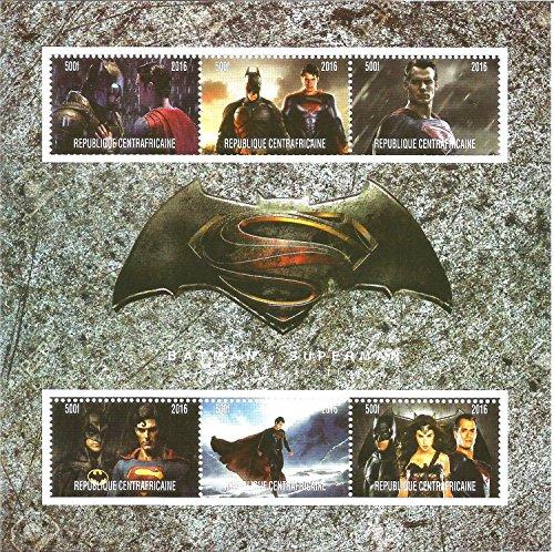Stampbank Collectables Stamps - Batman V Superman Marvel DC Comics MNH Stamp Sheetlet 2016