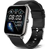 KALINCO Smartwatch, 1,4 tums pekskärm med personlig skärm, armbandsur med blodtrycksmätning, puls, sömnmonitor, sportklocka I