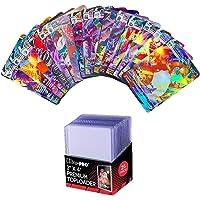 50 pcs pokémon français cartes de collection de jeux ,25 pcs Ultra Pro Toploader Protèges cartes Transparent