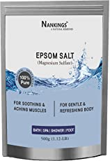 Nankings Pure Unscented Epsom Salt For Bath, Foot, Aching Muscles & Refreshing Body (500g)