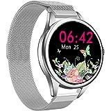 smartwatch Damen,Yocuby Mode SmartWatch Fitness Tracker mit IP67 wasserdicht/Herzfrequenzmesser/Schlafmonitor/SMS…